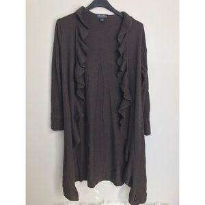 Brooks Brothers long ruffle sweater